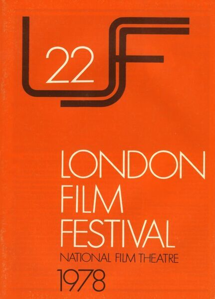 Poster from the 22nd London Film Festival - 1978