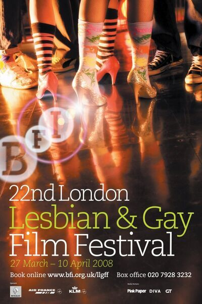 Poster for the 22nd Lodon Lesbian & Gay Film Festival - 2008