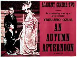 Academy Poster for Yasujiro Ozu's An Autumn Afternoon (1962)