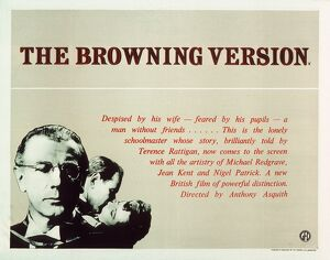 Film Poster for Anthony Asquith's The Browning Version (1951)