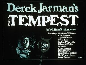 Film Poster for Derek Jarman's The Tempest (1979)
