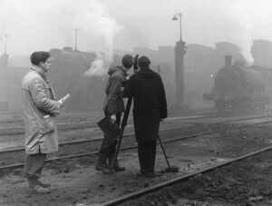 Michael Grigsby filming Enginemen (1959)