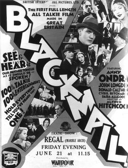 Poster for Alfred Hitchcock's Blackmail (1929)