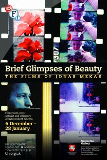 Poster for Brief Glimpse Of Beauty (The Films Of Jonas Mekas) Season at BFI Southbank