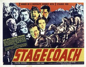 Poster for John Ford's Stagecoach (1939)