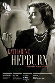 Poster for Katharine Hepburn Season at BFI Southbank (1 February - 19 March 2015)