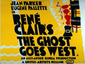 Poster for Rene Clair's The Ghost Goes West (1935)